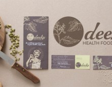 Deeks Health Foods – logo, business card and brochure design