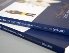 Office to the Official Secretary to the Governor General – Annual Report 2012-13 design