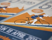 Pedal Power </br>Rotary Rides 5 Peaks Challenge Branding, flyer, poster and social media design