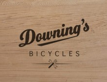 Downing's Bicycles – business card, logo, and cycling kit design
