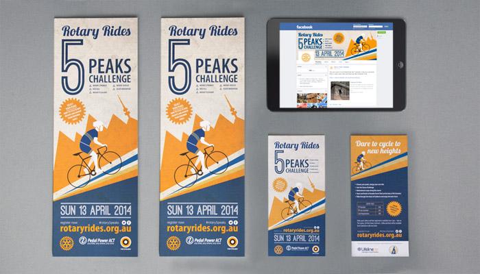 5 Peaks Challenge branding