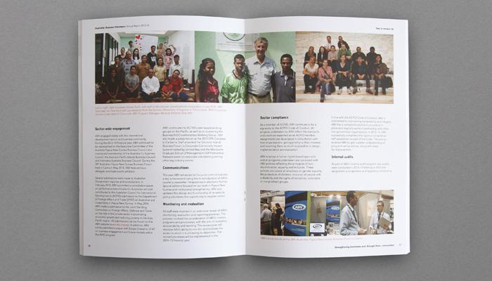 ABV annual report design