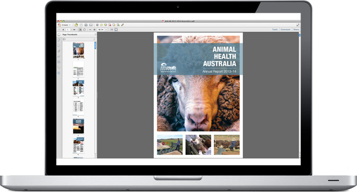 Animal Health Australia Annual Report 2013–14 accessible PDF