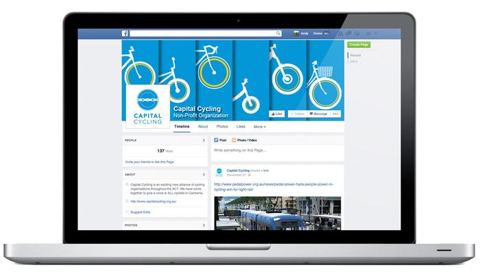 Capital Cycling Facebook banner design