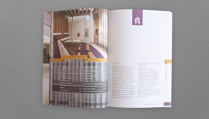 HCA Annual Report 2012-2013 inner spread