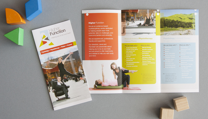Higher Function brochure fron tand inside