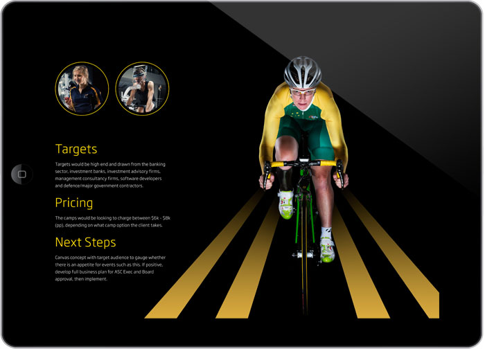 AIS Cycling Camps digital design brochure design