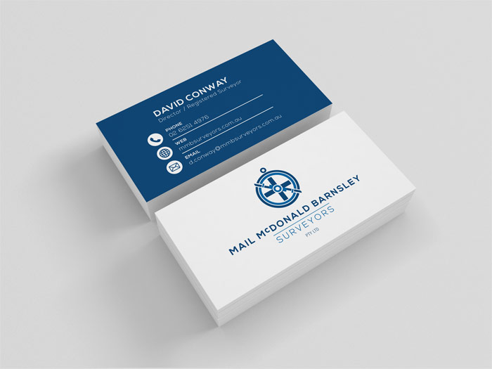 MMB business card design